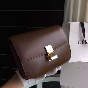 Celine Classic Box Bag in Smooth Calfskin Coco