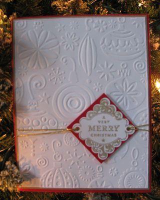 cuttlebug card ideas | Christmas Cards - a Cuttlebug Card & a Stamped Card - Loves Tea ...