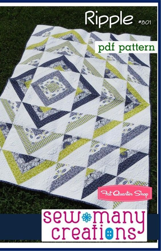 Ripple Downloadable PDF Quilt PatternSew Many Creations - Quilt Patterns | Fat Quarter Shop