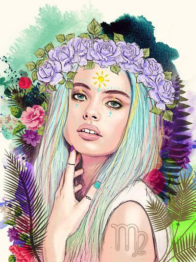 #Virgo Art Print by Sara Eshak - $19.24