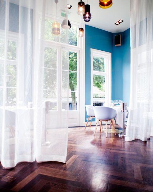 hotel dom~blue walls