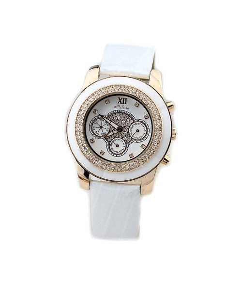 2012 New Crystal Ceramic Bezel Women's Calendar Watch