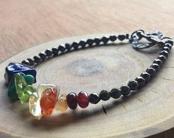 Armband met hamsa hand armband hout yoga sieraden door ShopYvonne