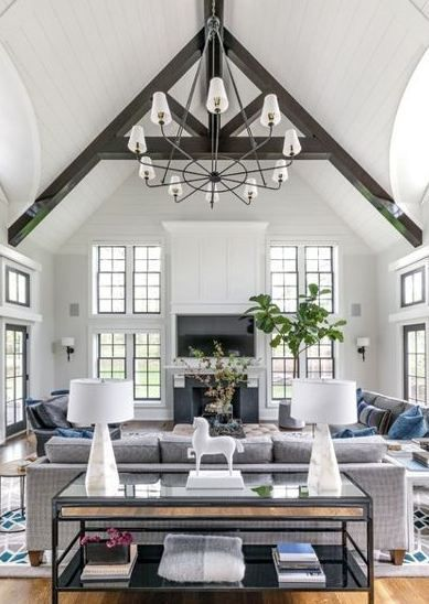 Vaulted Ceilings Are Recognized Officially As Well As Informally With Numerous Clas Vaulted Ceiling Living Room Farm House Living Room High Ceiling Living Room