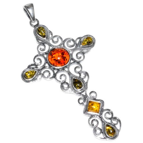 A549-10-4g-AUTHENTIC-BALTIC-AMBER-925-STERLING-SILVER-PENDANT-JEWELRY