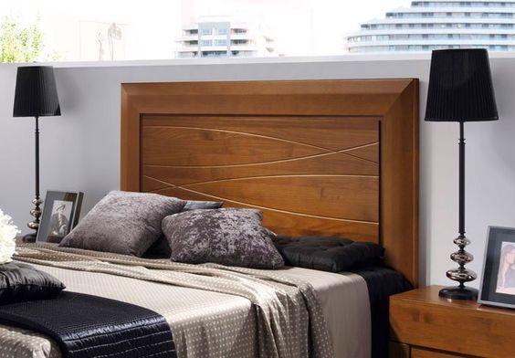 camas de madera modelos modernos  Buscar con Google  Cabeceras