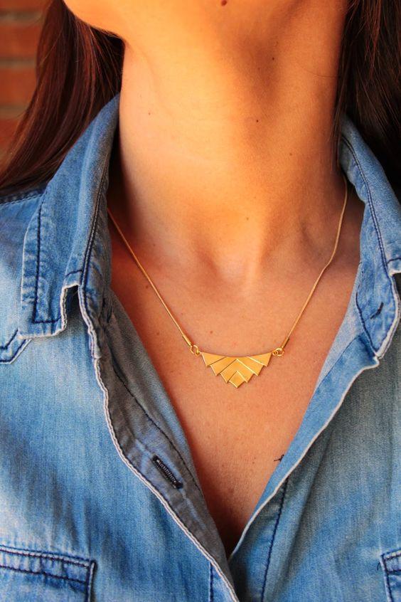 Geometric Necklace Pendientes, pulseras y collares by Happy Uky: Colección Shapes