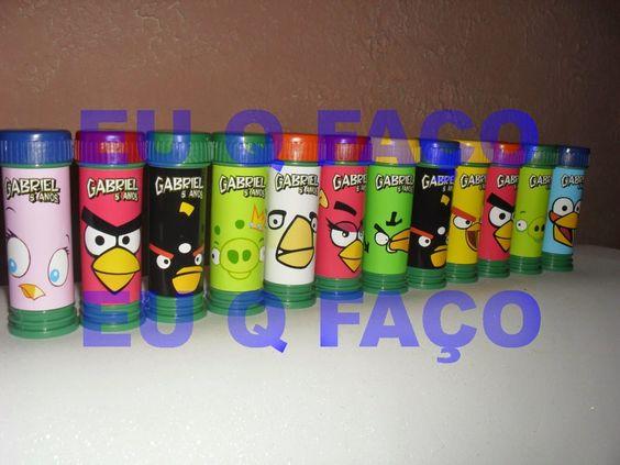 EU Q FAÇO - Brindes e Lembrancinhas: Bolinha de Sabão Angry Birds 1