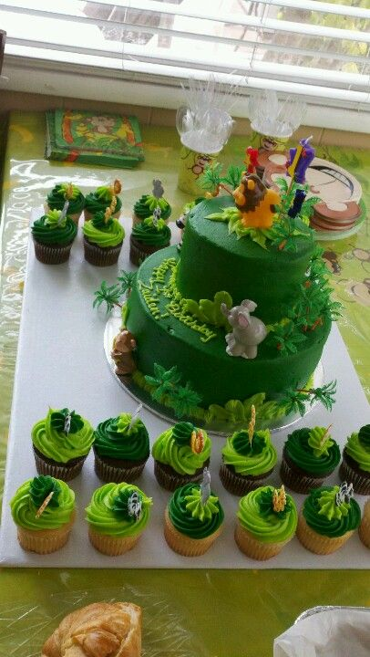Safari Birthday Cake From My Baby Boys 1st Bday Party