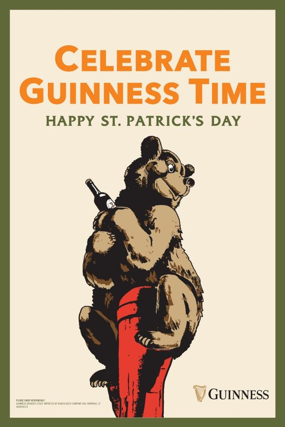 If you're looking for a way to make this year's St. Patrick's Day celebration your most authentic one yet, look no further than our vintage Guinness ads. This poster features Guinness artwork pulled from our collection of vintage ads spanning the 1930s and 50s. Grab a pint, and grab a little history along the way. And remember, as long as you're getting ready for St. Patrick's Day with a Guinness, you're getting ready the right way.