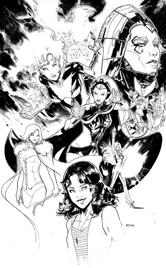 Women of the Dark Phoenix Saga by Peter Nguyen