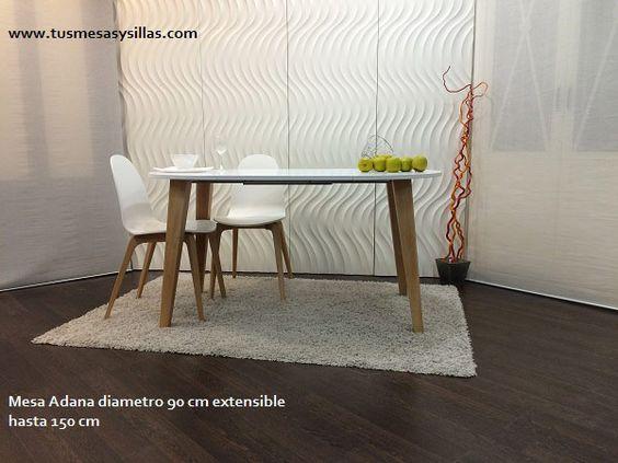 Mesa de cocina o comedor redonda extensible con un - Mesa de cocina redonda extensible ...