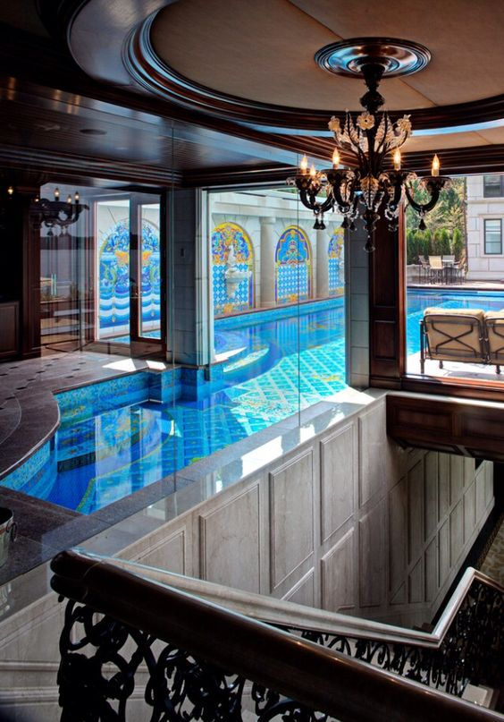 luxury indoor outdoor pool Swimming Pools
