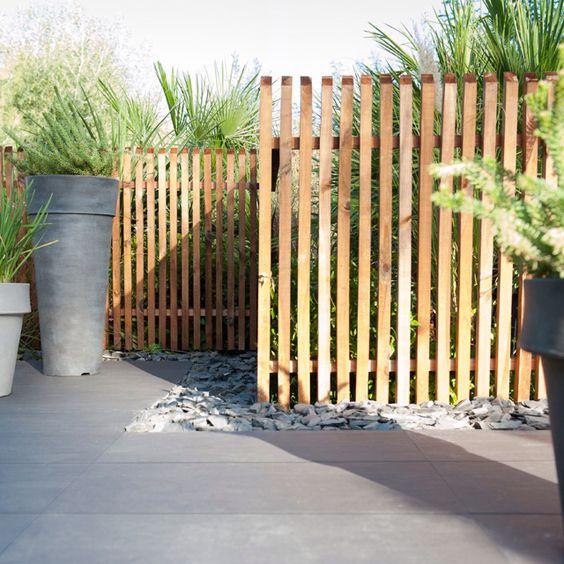 cloture en bois jardin pinterest. Black Bedroom Furniture Sets. Home Design Ideas