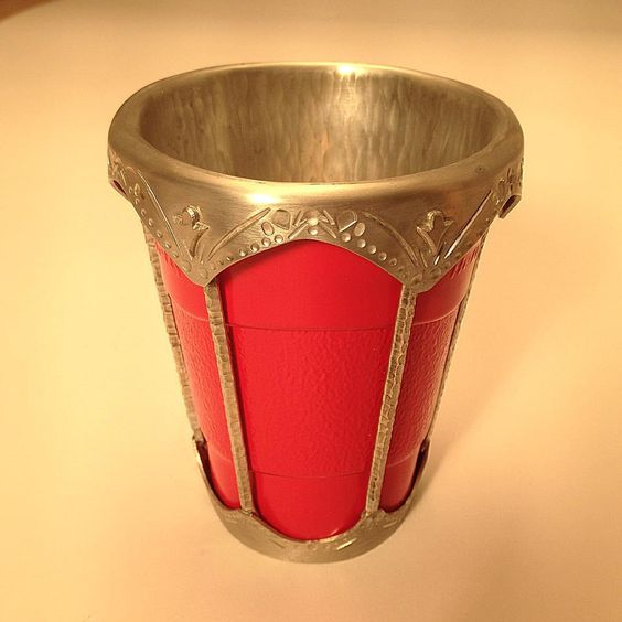 Who said you couldn't solder a #redsolocup in #pewter? #uga #metalsmithing