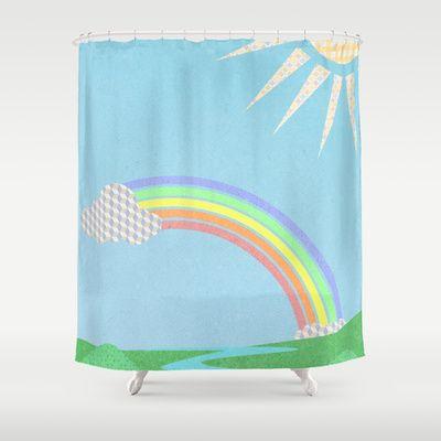 rainbow valley Shower Curtain by studiomarshallarts - $68.00