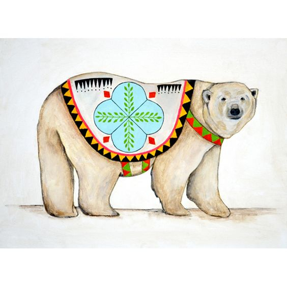 Polar Bear in Jacket by San Francisco illustrator and fine artist Lisa Congdon