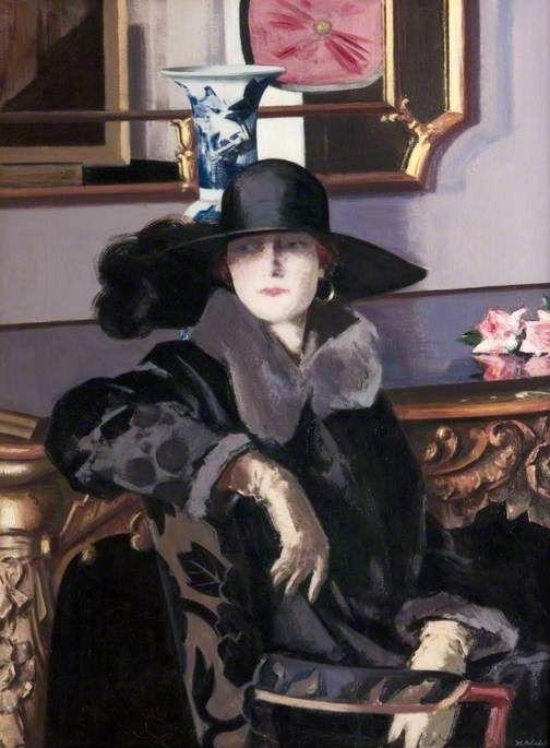 A Lady in Black, c.1926, by F C B Cadell (Scottish 1883-1937)