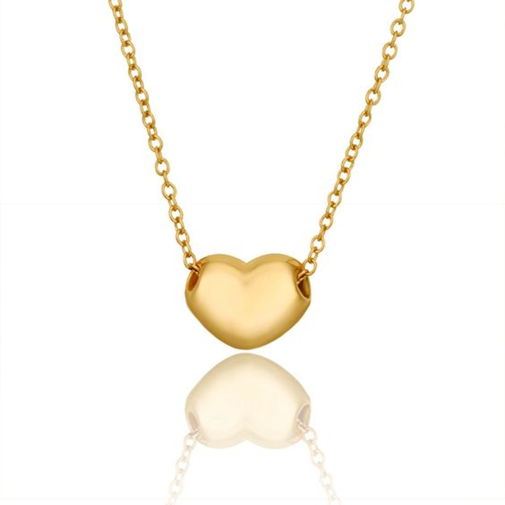 Lady's Brass Gold Plated Corazon De Oro Pendand Necklace (45cm + 5cm Extension)