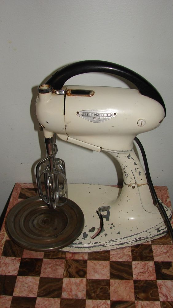 Pottery Electric Hand Mixer ~ Vintage hamilton beach model g hand and stand electric