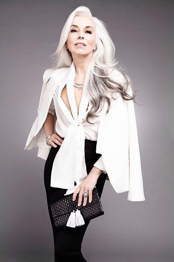 60 cortes de cabelos brancos para você se inspirar – Portal AVôVó