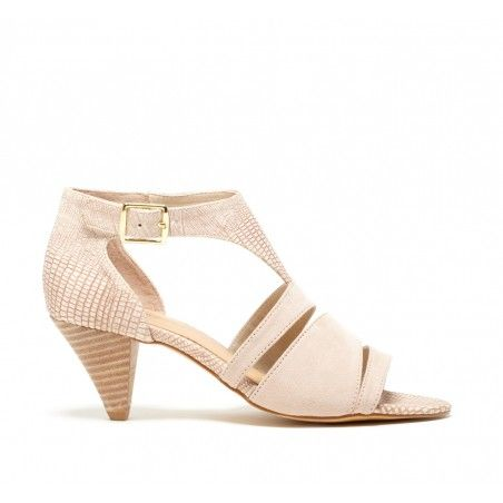 Nude Sandal with Heel