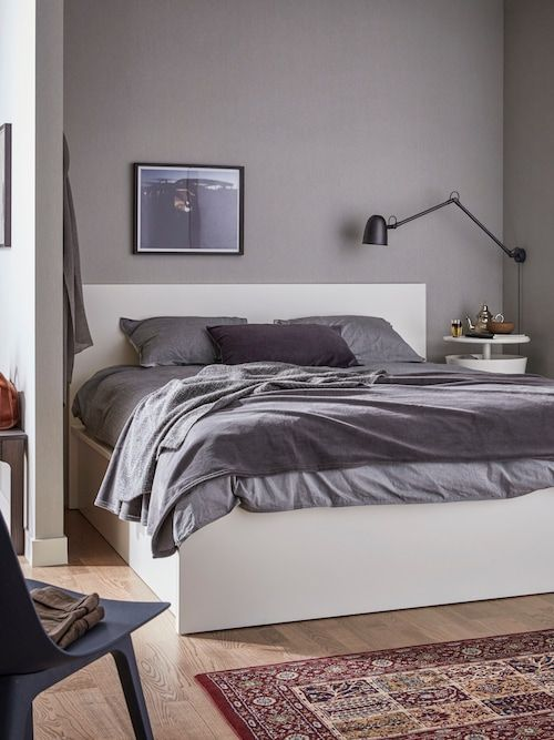 Malm White Ottoman Bed Standard Double Ikea In 2020 Bed Frame Storage Bed Ottoman Bed
