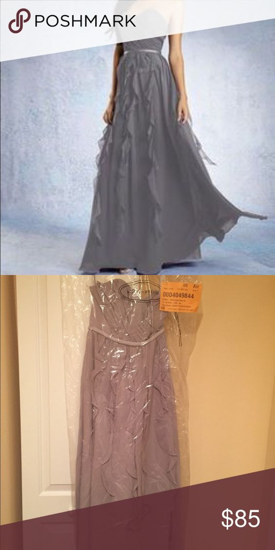 NWT floor length bridesmaid/prom dress. NWT and garment bag.  Never taken out of plastic, zero alterations have been made.  Open to offers.  Retail at $199 color is moonlight waltz Alfred Angelo Dresses Prom