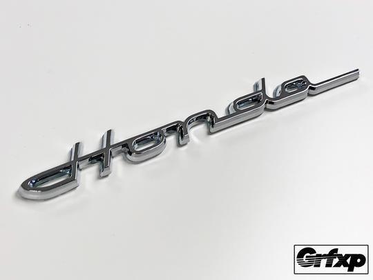 Reproduction Vintage Cursive Honda Emblem Honda Vintage Emblems