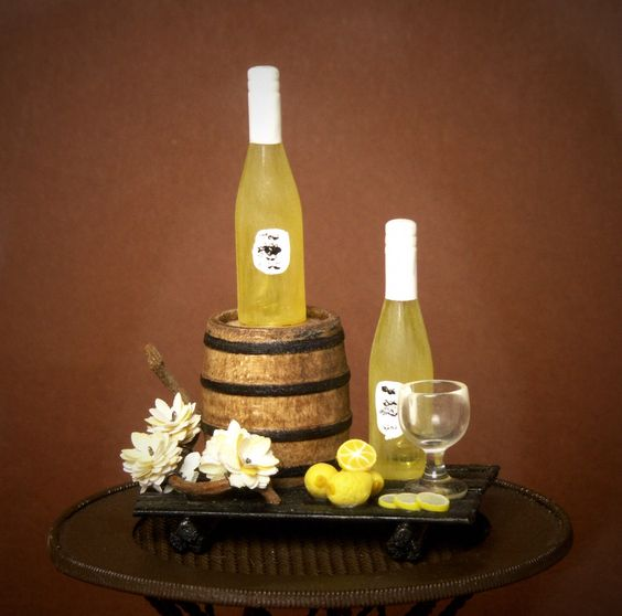 Noble Miniature Summer Wine for Your Dollhouse by DinkyWorld on Etsy https://www.etsy.com/listing/209404750/noble-miniature-summer-wine-for-your