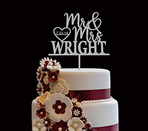 Personalized Wedding Cake Topper Wooden Cake Toppers Mr Mrs Heart Customiz In 2020 Personalized Wedding Cake Toppers Custom Wedding Cake Toppers Wedding Cake Toppers