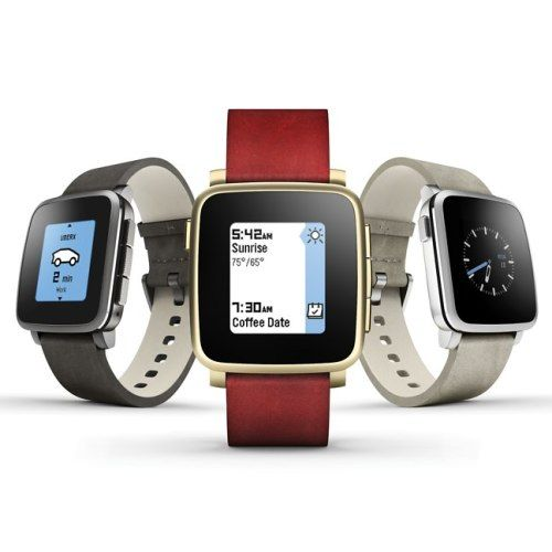 The World's Thinnest Pebble Time Steel Smartwatch