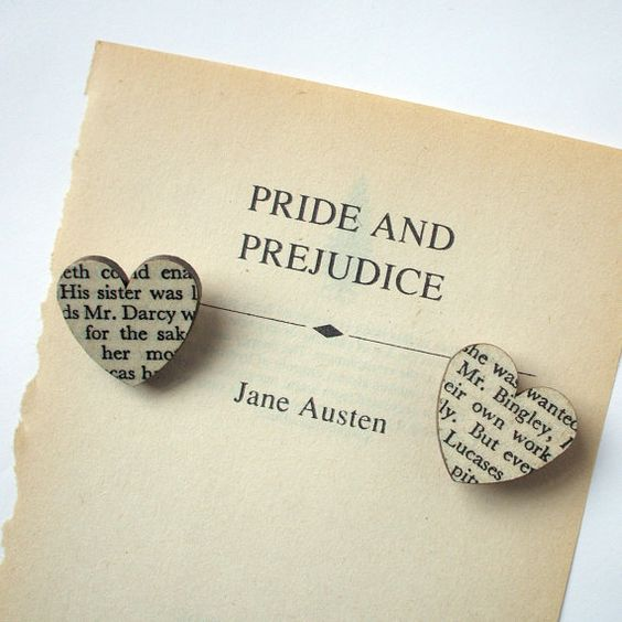 Pride and Prejudice - Heart brooch. Classic book brooches made ...