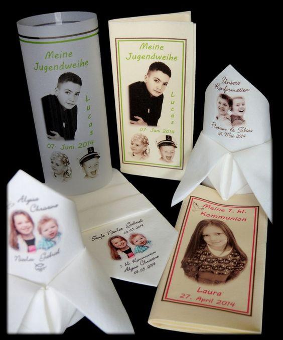 Servietten bedrucken lassen Foto Logo Lichthüllen Windlicht Kommunion Taufe Hochzeit Einschulung Geburtstag serviettendruck serviettentechnik günstig billig tischdekoration deko tischdeko | Hauptseite