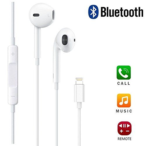 Lightning Earphones Earbuds Apple Earpods With Lightning Connector With Remote And Mic For Apple Earbuds Iphone 7 Iphone 8 Earbuds Headphones Iphone Earphones