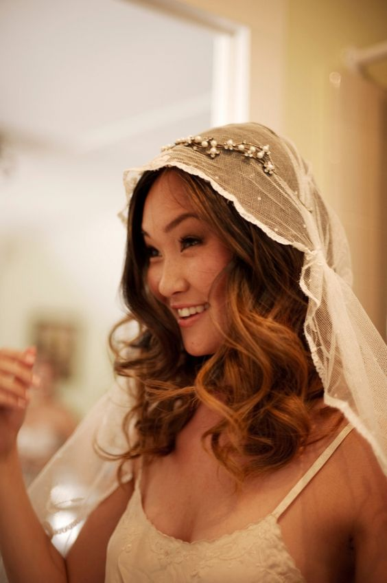Love this bohemian veil style! // photo by AshleyCamper.com