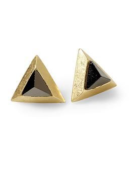 Hive & Honey Triangle Stud Earring | Piperlime