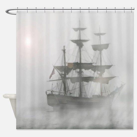 Lyingcat Mug Pirate Bathroom Cloth Shower Curtain Modern