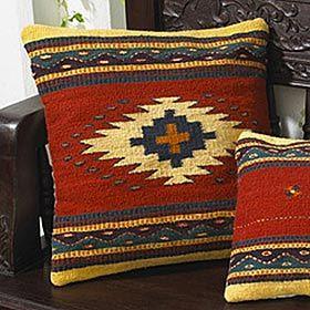 Western Throw Pillows: Softly Pillows, Cushions Pillows, Navaho Patterns, Navaho Pillow, Southwest Pattern, Throw Pillows, Pillows Colors, Leather Pillows