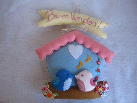 #house, #bird sweet little felt birdhouse