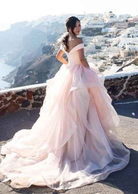 23 Romantic Blush And Pink Wedding Dresses Peach Blush Wedding Dress Pink Wedding Dresses Wedding Dresses Blush
