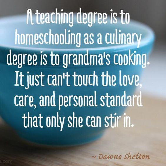 A teaching degree and Grandma's cooking.