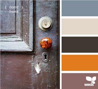 Grey Blue Orange Brown Color Palette Color My World