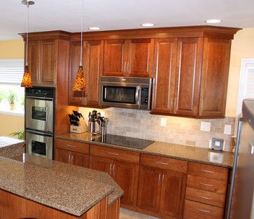Kraftmaid cabinets-Northfield Cherry-Sunset - eclectic - kitchen - other  metro - Loweu0027s