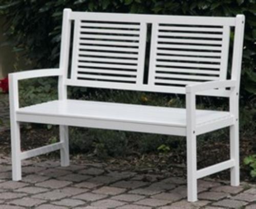 Gartenbank 2 Sitzer Weiss Akazie Hartholz Birkensee Holzbank Mit Armlehnen Holzbank Gartenbank 2 Sitzer Gartenstuhle
