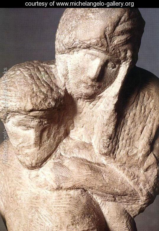 Pietn Rondanini (inachevé) [détail: 1] - Michelangelo Buonarroti - www.michelangelo-gallery.org