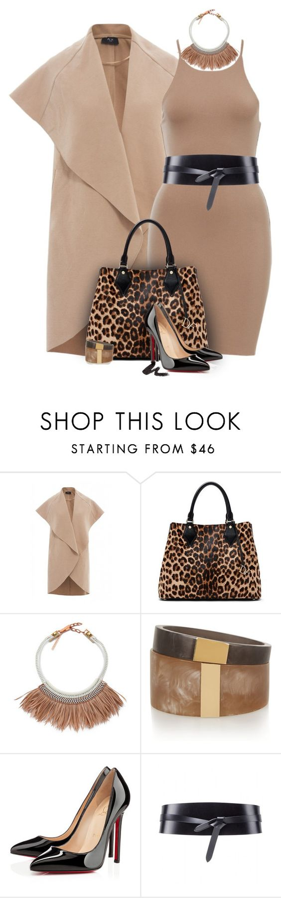 """Exotic Luxe"" by lisa-holt ❤ liked on Polyvore featuring AX Paris, Trilogy, Diane Von Furstenberg, Fiona Paxton, Isabel Marant, Christian Louboutin and MAKE UP FOR EVER"