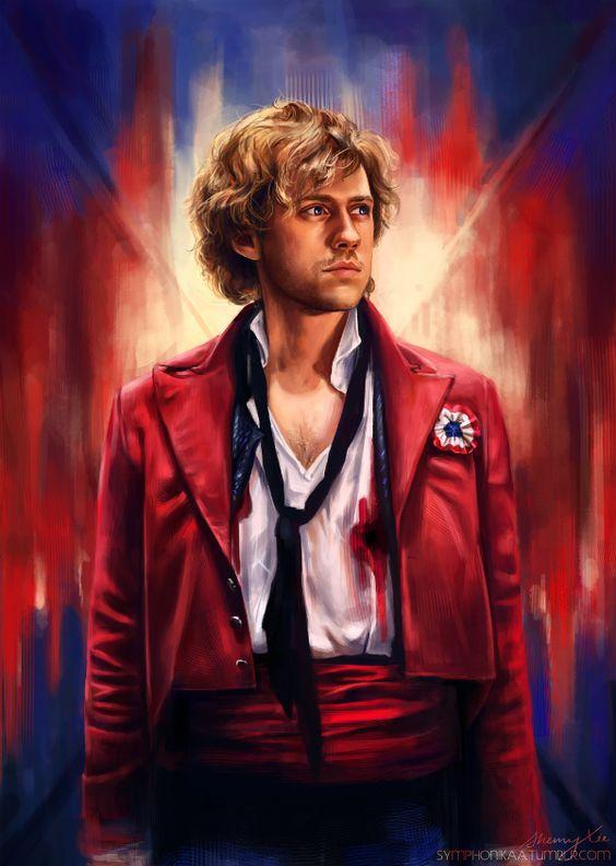les miserables enjolras art Stunning Les Misérables Artwork For Aaron Tveits Enjolras