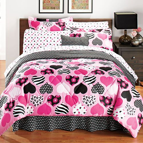 pink leopard bedroom sz pink black hearts leopard polka dot zebra flowers 12875