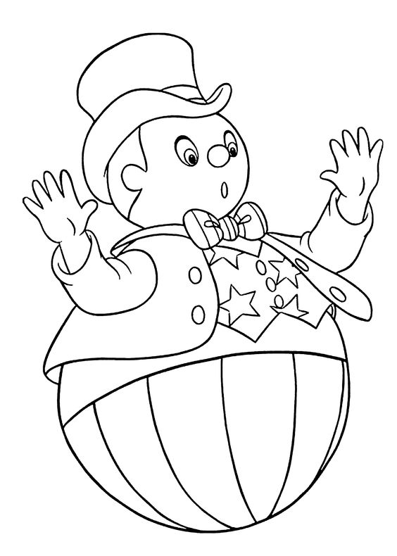Noddy Coloring Pages Wobblyman For Kids Printable Free